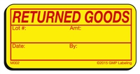 RETURNED GOODS Materials Label M002