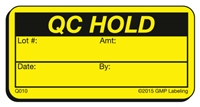 QC HOLD Quality Control Label Q010