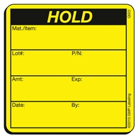 HOLD Caution Label Label Q022