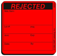 REJECTED Quality Control Label Q025