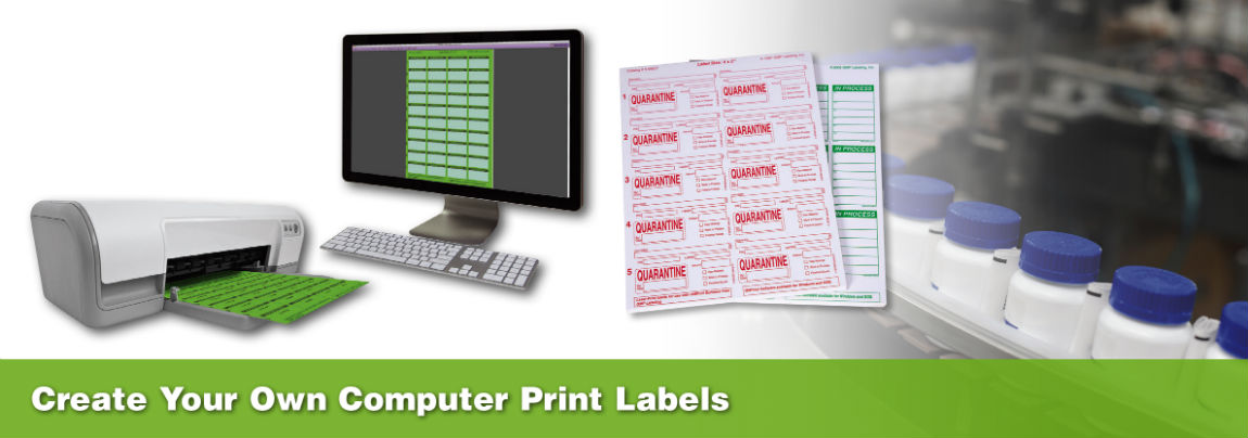 Create your Own Computer Print GMP, QC & ISO Compliance Labels