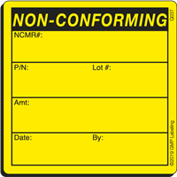 Q037 NON-CONFORMING Quality Control Label